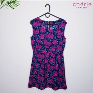 Forever 21 | Berry Floral Dress - Large